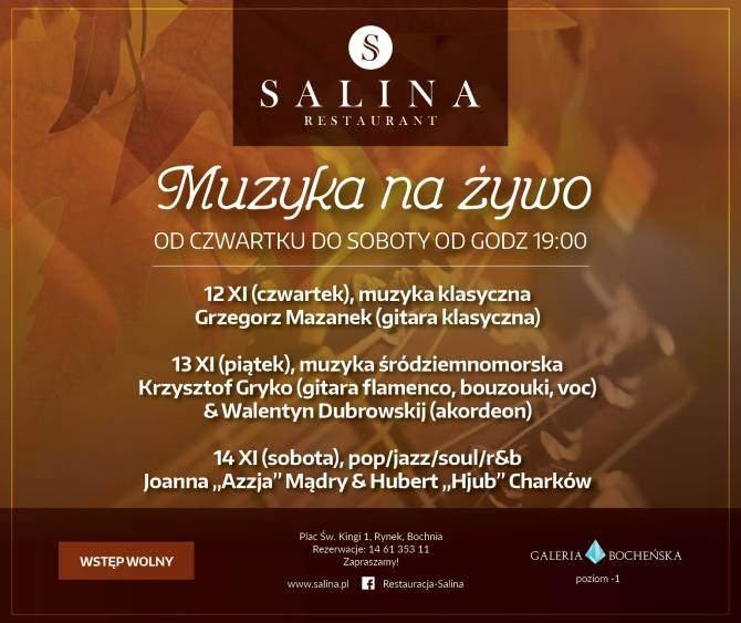Muzyczny weekend w Restauracji Salina