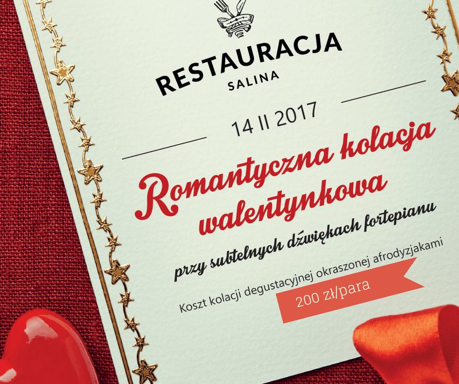 Romantyczna kolacja walentynkowa restauracja Bochnia Salina