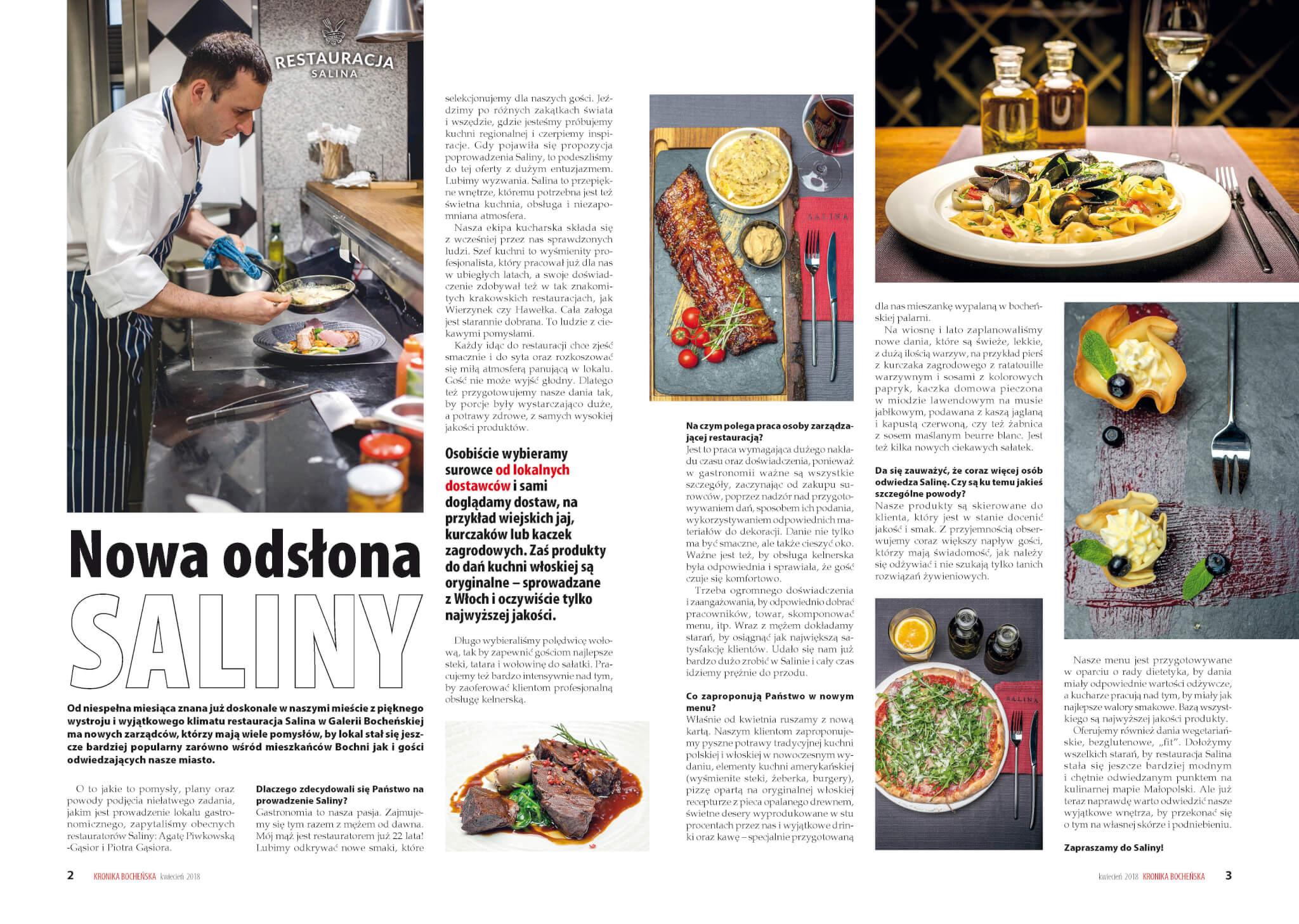 Restauracja Bochnia - Kronika Bocheńska